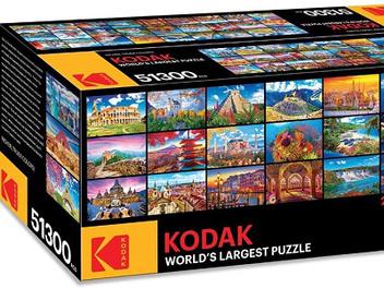 柯達推出世界最大拼圖共51,300片,你有足夠耐心拼完它嗎?