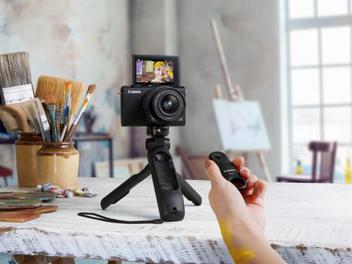 增添Vlog短片拍攝樂趣,Canon推出三腳架手柄 HG-100TBR及身歷聲麥克風DM-E100