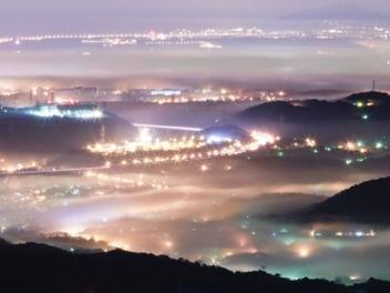 新竹 攝影 私房 景點 分享:俯瞰迷霧之都, 大山背 之 夜