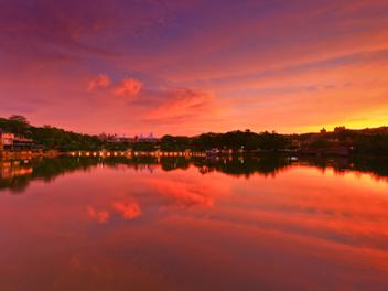 新竹 攝影 私房 景點 分享:夕陽倒影 青草湖
