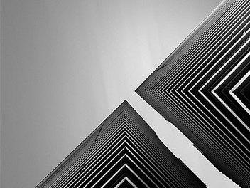 寂靜的平衡與美 黑白極簡抽象攝影
