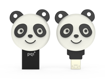 PQI OTG雙向儲存碟療癒系列:幸運貓、元氣熊貓一碟雙用