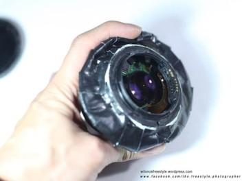 窮人玩 移軸 進階版, Canon 50mm F1.8 切兩段作成  DIY 移軸 鏡頭