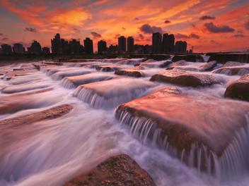 新竹 攝影 私房 景點 分享:竹北之夜 豆腐岩