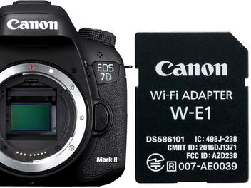 Canon推出Wi-Fi無線延伸卡W-E1 並釋出EOS 7D Mark II / 5DS / 5DS R最新韌體