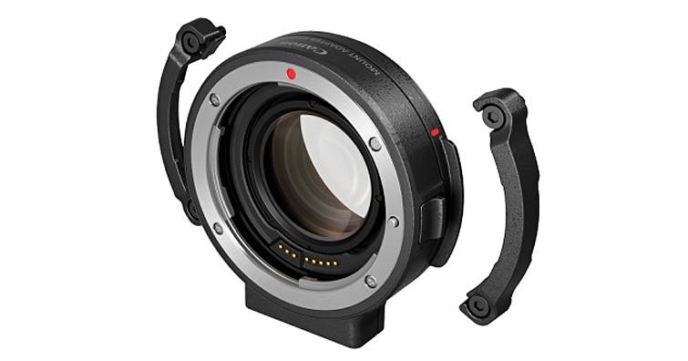 Canon推出EOS R系統鏡頭接口轉接環EF-EOS R 0.71×,使採用RF卡口的EOS C70可使用龐大的EF鏡頭群