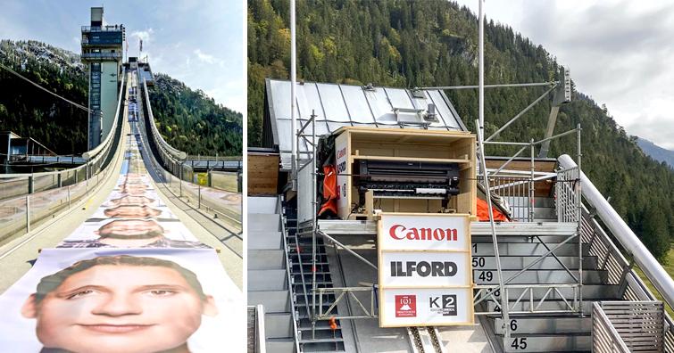 最強防水墨水克服嚴峻氣候 輸出長達109.04公尺照片,Canon專業繪圖機成功締造「金氏世界紀錄」