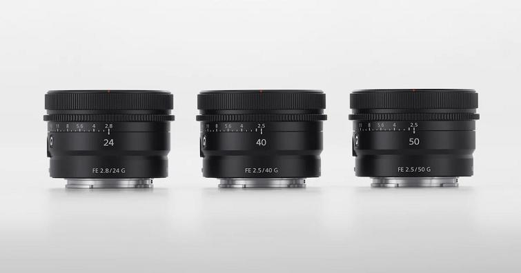 Sony發布FE 24mm F2.8 、FE 40mm F2.5、FE 50mm F2.5三顆新G鏡
