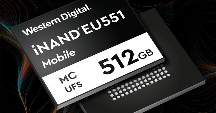 WD iNAND MC EU551快閃創新,可支援超高解析相機、AR/VR、遊戲及 8K 錄影等新興手機應用