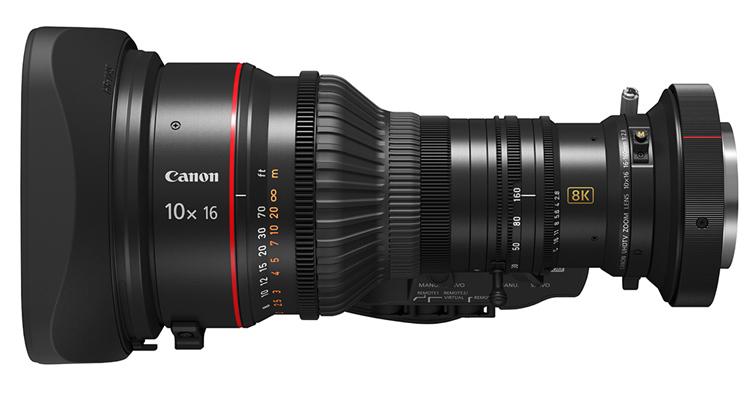 Canon推出10x16 KAS S可擕式廣播級變焦鏡頭,擴充8K超高清系列產品陣容